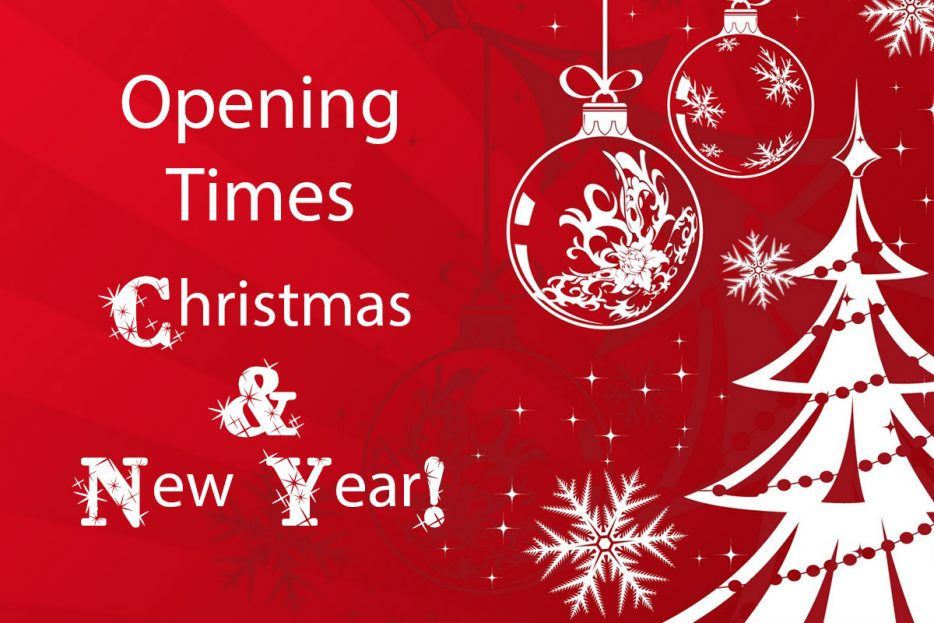 Garden Centre: Opening Times Christmas & New Year