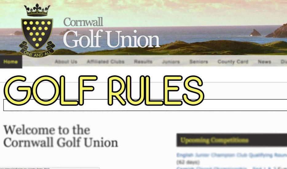 Golf Rules CGU