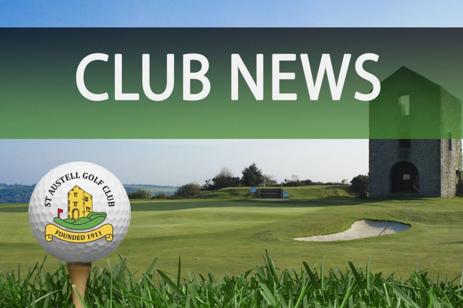 Club News St Austell Golf Club in Cornwall