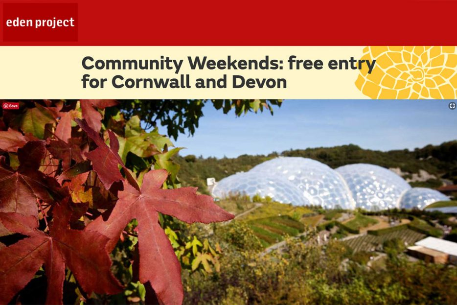 Garden Centre: Free Entry To The Eden Project
