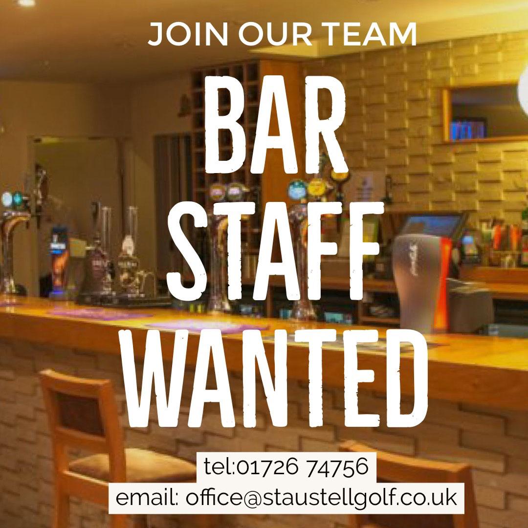 Bar Staff Wanted St Austell Cornwall